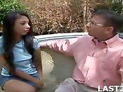 This coach seduces a latin teen into a striptease