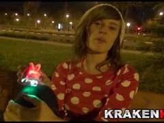 Krakenhot - Outdoor scene with a funny provocative teen