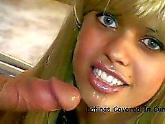 Tight teen latinas dripping in cum