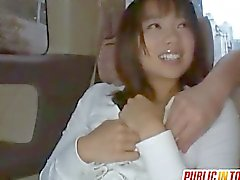 Haruka fucks sucked dick in the car