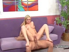 Petite hottie Crista Moore gets her tiny pussy pounded