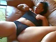 Horny Fat Chubby Ebony Ex GF masturbating her Wet Pussy