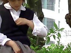 Japanese pissing teen