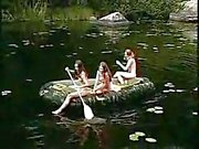 Three Hot Girls Nude Girls In The Jungle On Boat For Cock Hunt