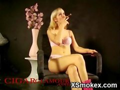 Dominant Smoking Teen Hardly Penetrated