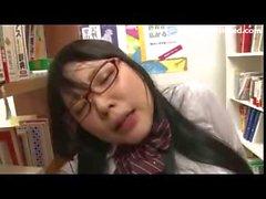 Schoolgirl drilled by library geek 11