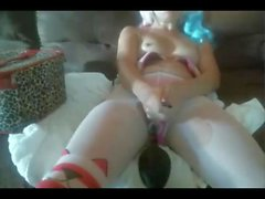 Kinky teen on webcam