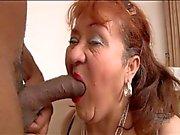 Grandma is gagging for black cock