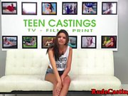 Busty casting teen screwed while tiedup