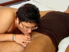 german granny in glasses fucked fucked in the bedroom