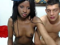 Sexy ebony amateur teen girl on webcam