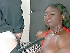 Thick and black queen rammed hardcore by huge daddy's white dick
