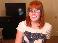 Redhead Ashley Grahams solo fingering fun