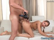 Casting teen banged doggystyle
