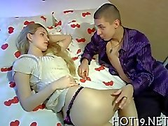 Exquisite Russian Cutie rides a bulging dong