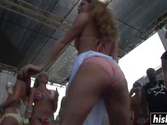 Amazing babes pose on the stage