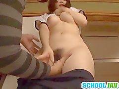 Satomi enjoys large long penis