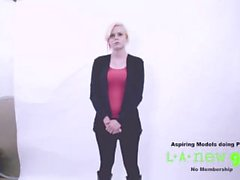 blonde fucked in the ass at photoshoot casting audition