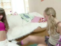 Sister and Step-Sister Teen Get First Sex Togheter