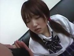 Hot college Asian chick with school uniform