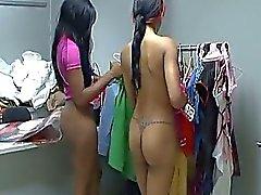 A couple of lesbian ebony amateurs find dildo