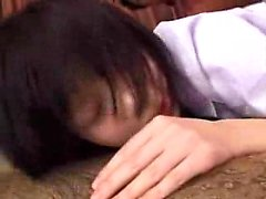 Petite Japanese teen with a sweet ass fucks a thick cock on