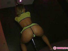 KT So Yellow Mesh Pole Stripping