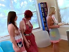 Bossy lesbian teen shaved
