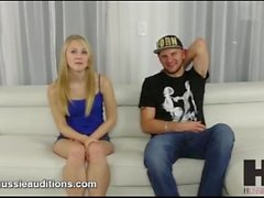 Hussie Auditions: Blonde Teen Lily Rader Likes it Rough in Audition Tape
