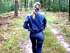 Cute Blonde hot Sex in the Forest