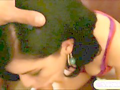 Brunette teen babe Belle Noire in an intense homemade porno