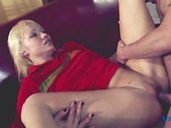 Horny cuttie gets banged hard from behind