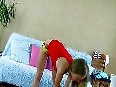 Young horny sports schoolgirl