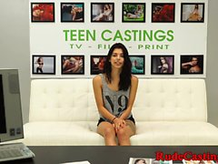 Casting amateur roughfucked and jizzed on