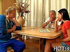 Russian Femdom teen lets her boyfriend watch