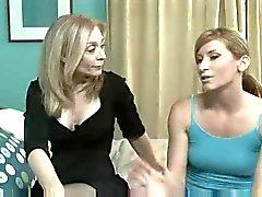 Milf showing young slut great lesbian pleasures