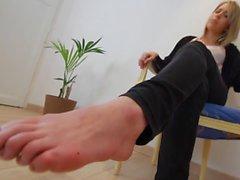 Celia showing off her stinky feet pov
