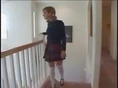 Two cocks jammed into school girl