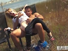 Lily Dixon Must Take Rough Sex & Outdoor Bondage for a Ride Home