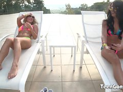 TEENGONZO Carter Cruise and Adriana Chechic threesome sex