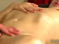 Hot babe massages a brunettes pussy with her sweet tongue