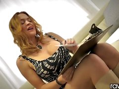 RawAttack - Big booty Krissy Lynn is punished by a monster cock, interview