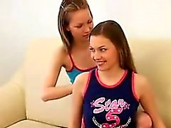 Skinny Lesbian Teens Licking Each Other