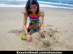 ExxxtraSmall - Beach Babe Boned in Hotel Room