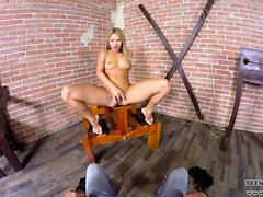 Hot babe Angel Piaff sex slave VR porn scene