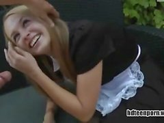German maid fucked in ass