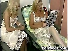 Seductive Horny Chick Making Out With Sexy Pantyhose