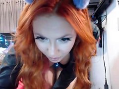 Latex Redhead Jerk Off Instructions Cucumber Up Your Ass Joi