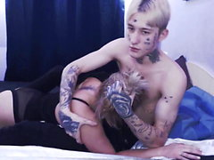 Young emo couple bdsm soft blowjob