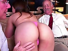 Cutie Ivy Rose Gets Fondled By Rich Old Men